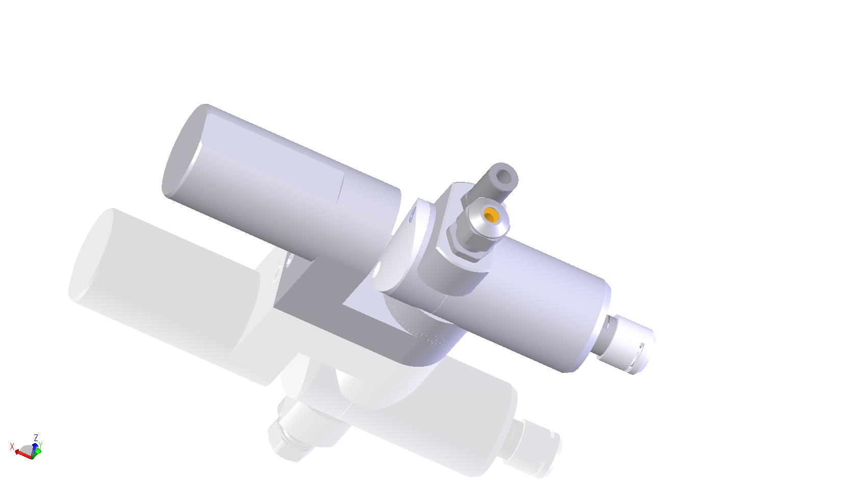 HT 25 S 60 CS - adjustable angle with 90° connector and midsized shaft