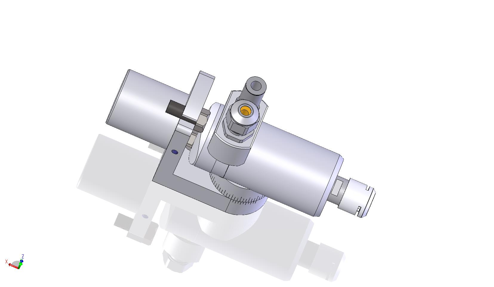 HT 25 S 60 CS - adjustable angle with 90° connector and short shaft